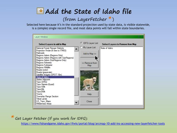 Add the State of Idaho file