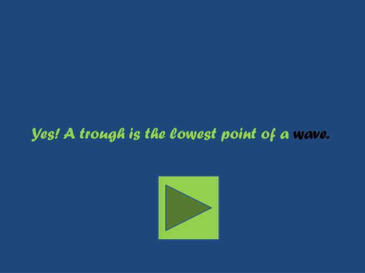 Yes! A trough is the lowest point of a