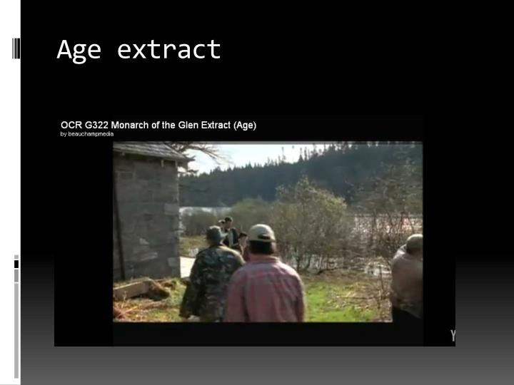 Age extract