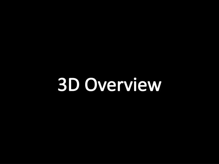 3D Overview