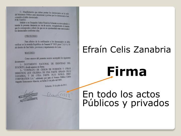 Efraín Celis Zanabria