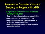 reasons to consider cataract surgery in people with amd
