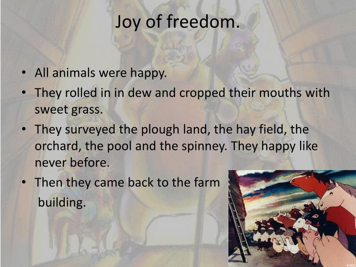 Joy of freedom.