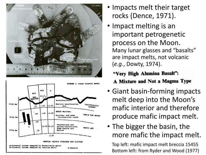 Impacts melt their target rocks (