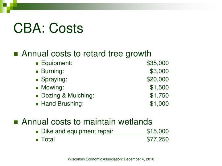 CBA: Costs