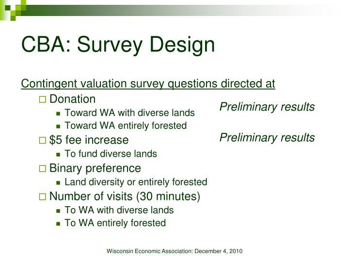 CBA: Survey Design