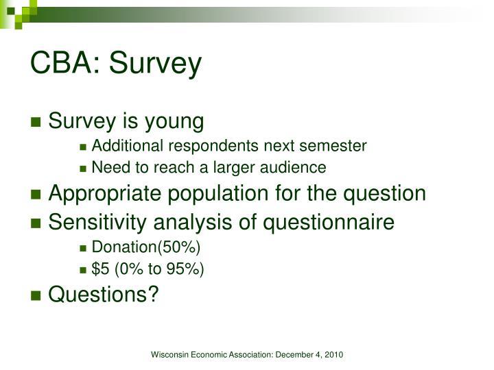 CBA: Survey