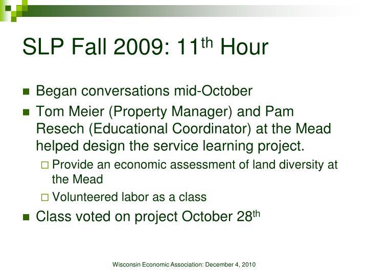SLP Fall 2009: 11