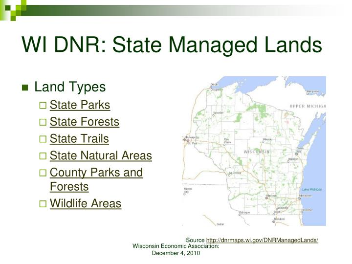 WI DNR: State Managed Lands