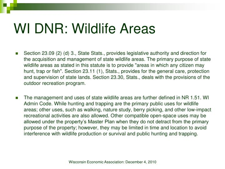 WI DNR: Wildlife Areas
