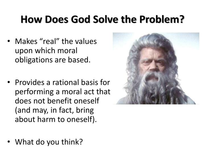 How Does God Solve the Problem?