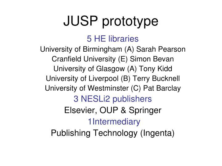 JUSP prototype