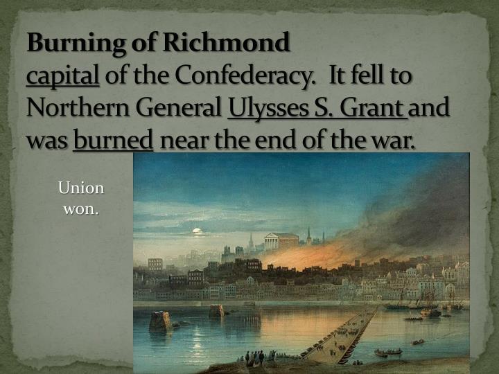 Burning of Richmond