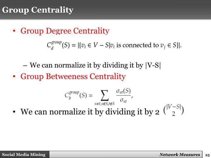 Group Centrality