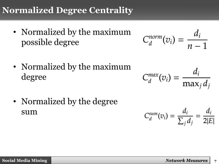 Normalized Degree Centrality