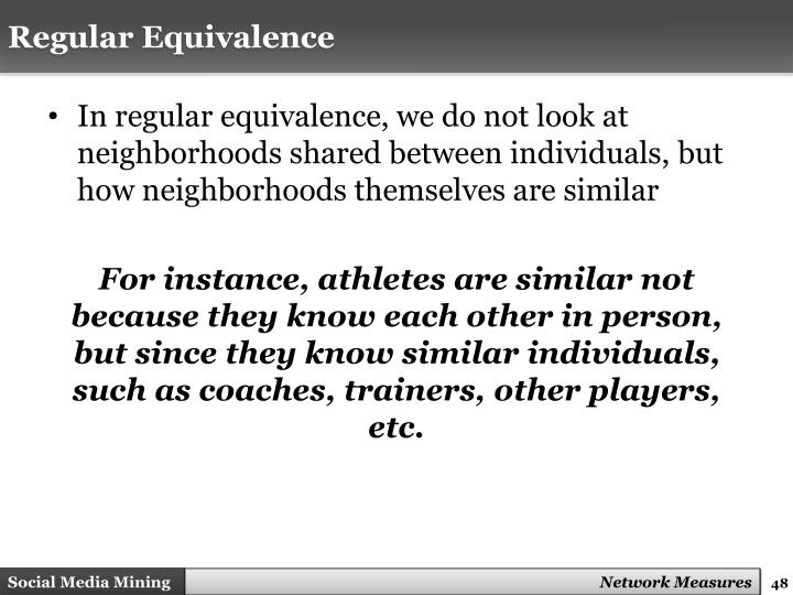 Regular Equivalence
