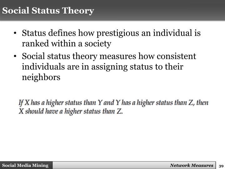 Social Status Theory