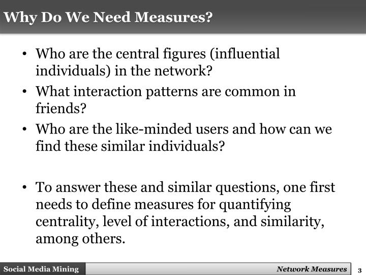 Why Do We Need Measures?