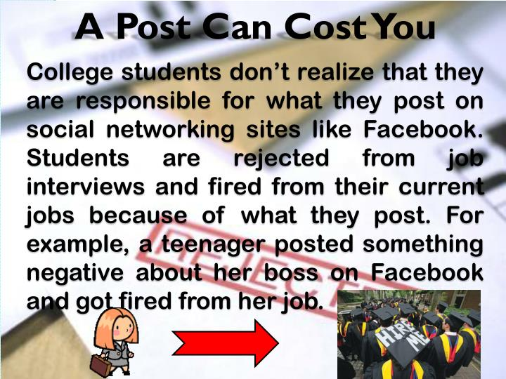 A Post Can Cost You