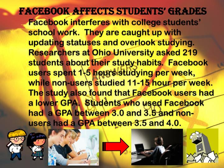 Facebook affects Students' Grades