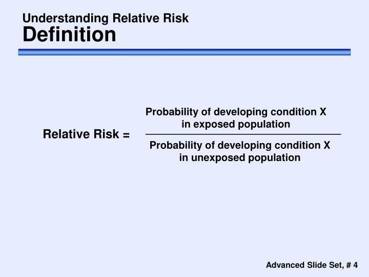 Understanding Relative Risk