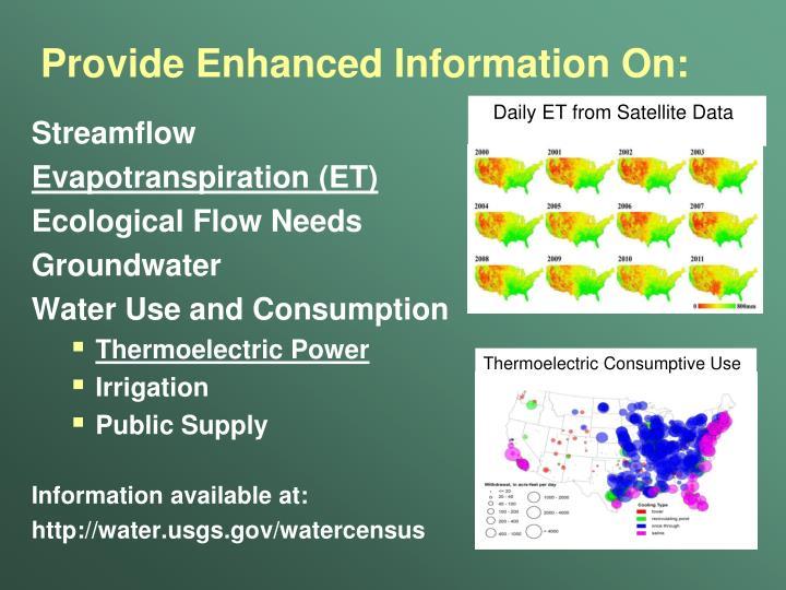 Provide Enhanced Information On: