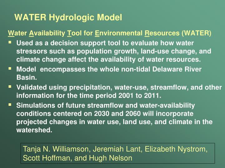 WATER Hydrologic Model