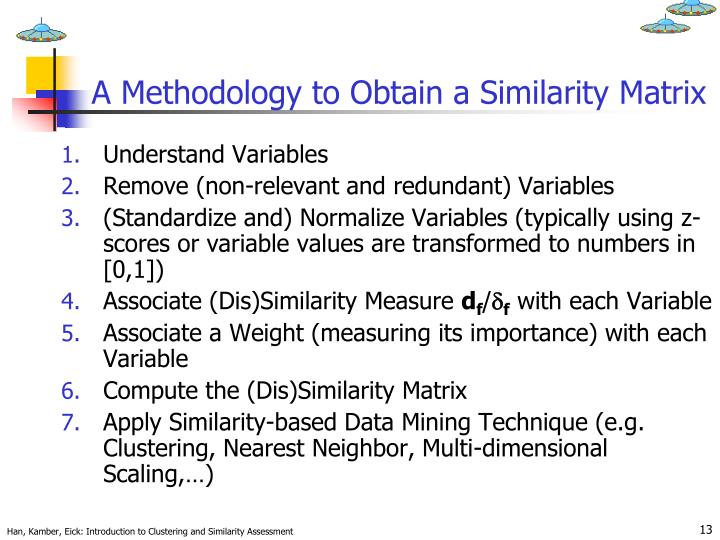 A Methodology to Obtain a Similarity Matrix