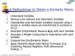 a methodology to obtain a similarity matrix