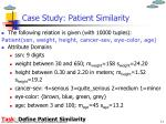 case study patient similarity