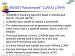 clarans randomized clara 1994