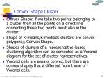 convex shape cluster
