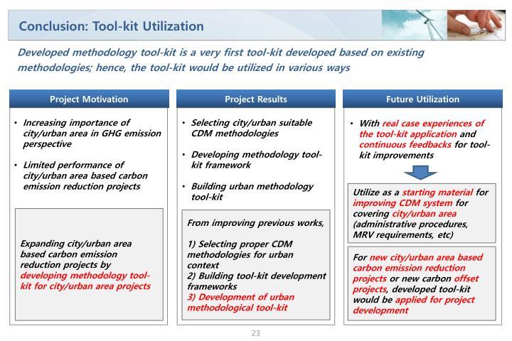 Conclusion: Tool-kit Utilization