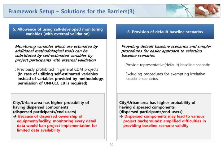 Framework Setup – Solutions for the Barriers(3)