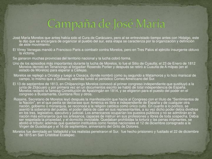 Campaña de José María