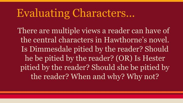 Evaluating Characters...