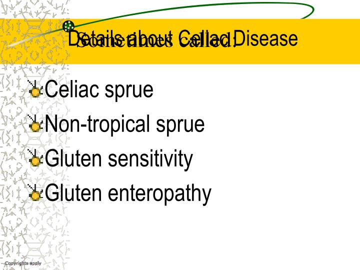 Details about Celiac Disease
