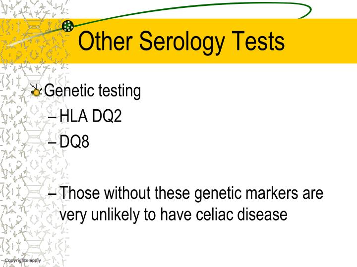 Other Serology Tests