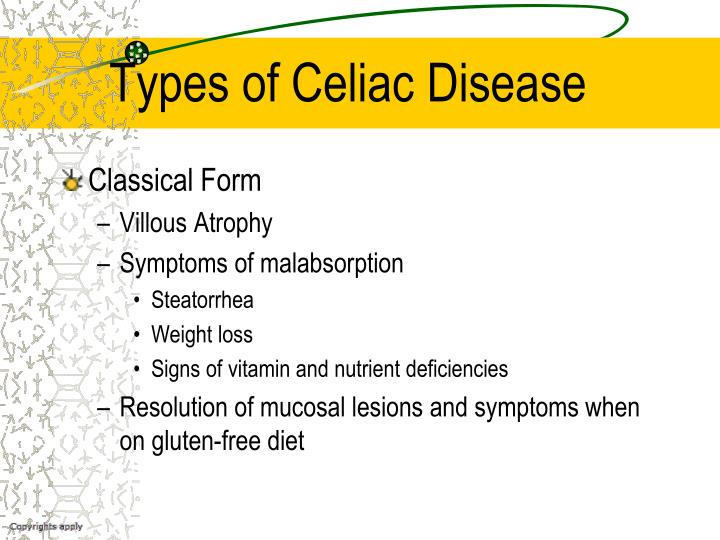 Types of Celiac Disease