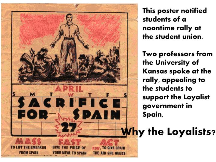 This poster notified students of a noontime rally at the student union.