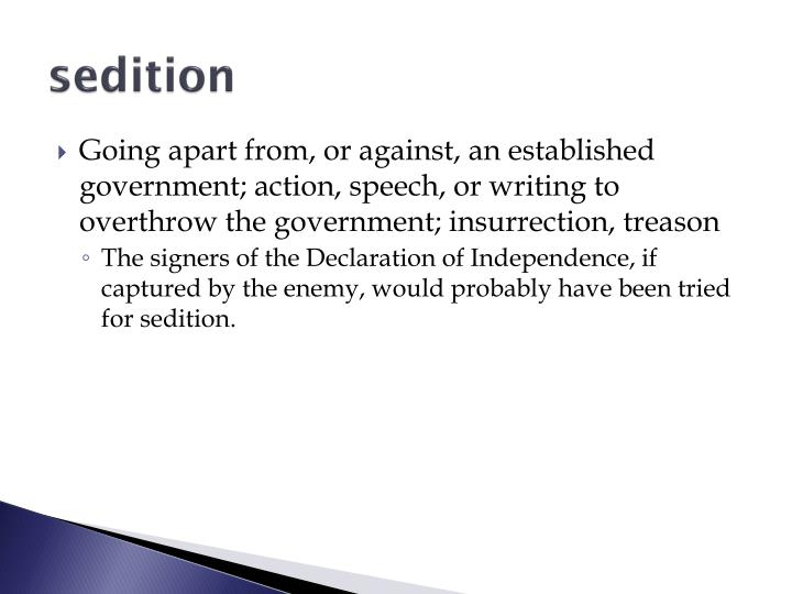 sedition