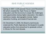 ibhe public agenda
