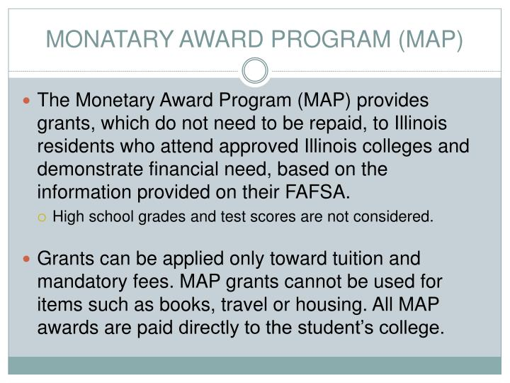 MONATARY AWARD PROGRAM (MAP)