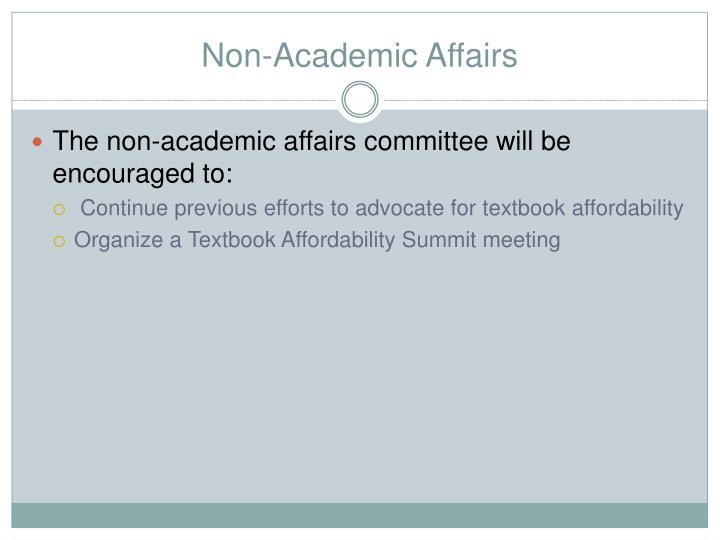 Non-Academic Affairs
