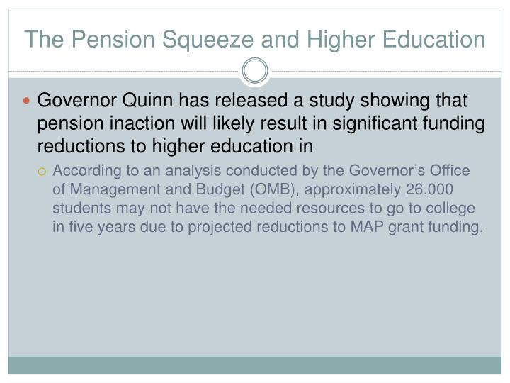 The Pension Squeeze and Higher Education