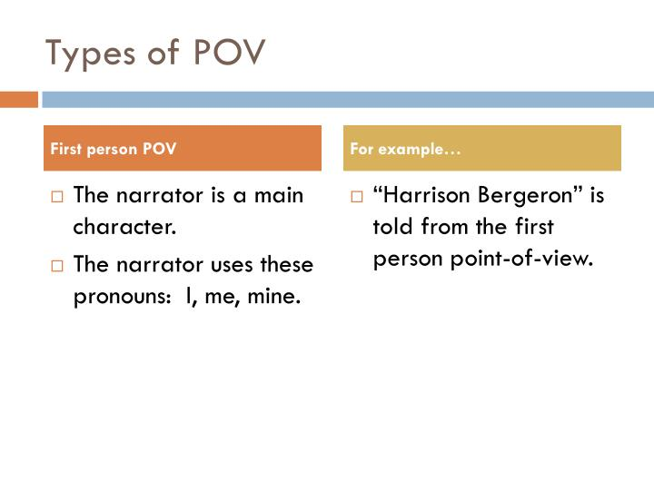 Types of POV