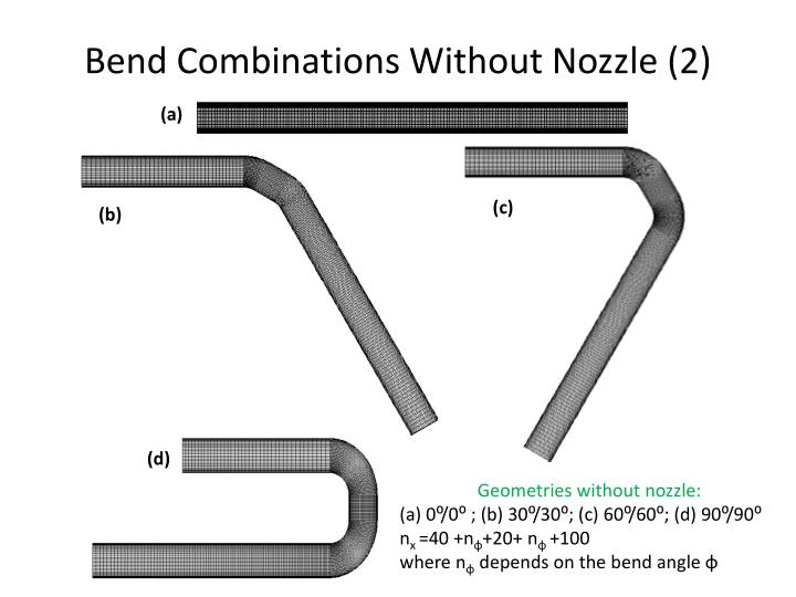 Bend Combinations Without Nozzle (2)