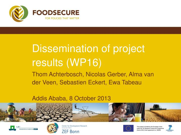 Dissemination of project results wp16