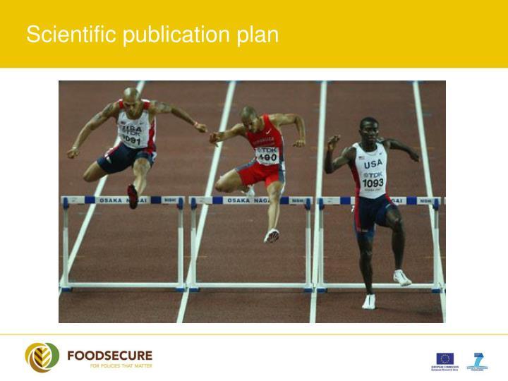 Scientific publication plan