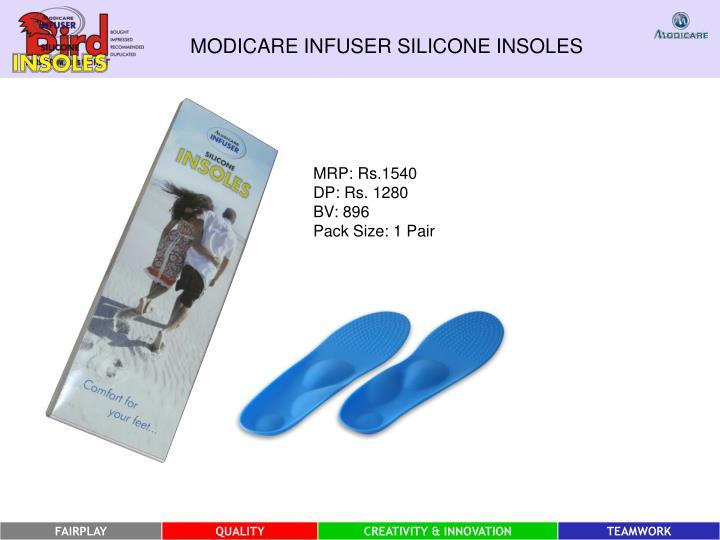 MODICARE INFUSER SILICONE INSOLES